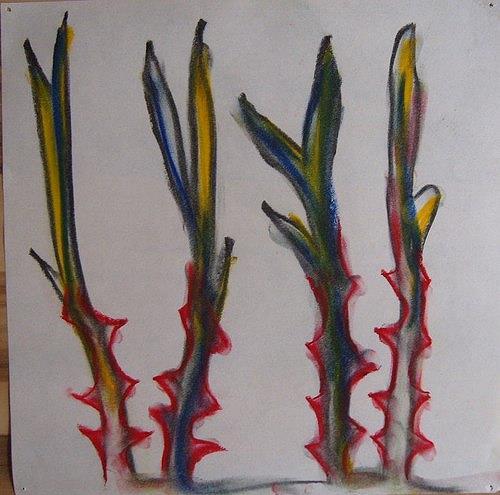 Mirjam Schadendorf, Dornenpflanzen 2, Pflanzen: Blumen, Moderne