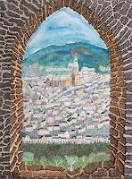 dieter-jacob-Landschaft-Landschaft-Berge-Moderne-Impressionismus-Pointilismus