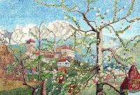 dieter-jacob-Landschaft-Berge-Moderne-Impressionismus-Pointilismus