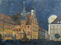 dieter-jacob-Landschaft-Berge-Diverse-Bauten-Moderne-Impressionismus-Pointilismus
