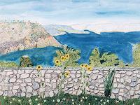 dieter-jacob-Landschaft-See-Meer-Landschaft-Berge-Moderne-Impressionismus-Pointilismus