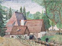 dieter-jacob-Architektur-Bauten-Haus-Moderne-Impressionismus-Pointilismus