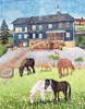 dieter jacob, unser Pfarrhaus in Eishausen, Architektur, Tiere: Land, Pointilismus