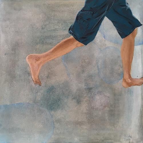 SiSch, Kannst du mir folgen? II, Diverse Menschen, Realismus, Abstrakter Expressionismus