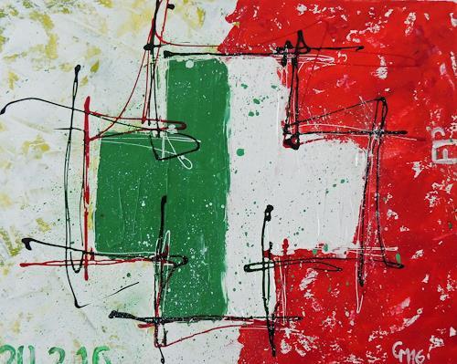 Claudia Maurer, Abschied, Symbol, Abstrakte Kunst, Expressionismus