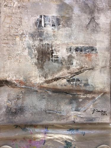 Gisela Rosenberger, Mahnung, Krieg, Abstrakte Kunst, Abstrakter Expressionismus