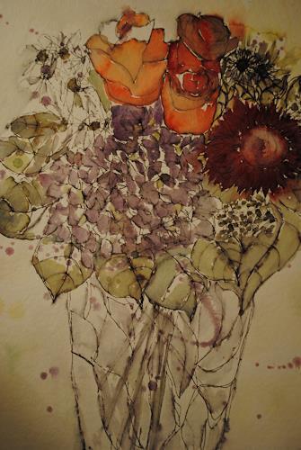Christine Steeb, O/T, Natur, Pflanzen, expressiver Realismus, Expressionismus