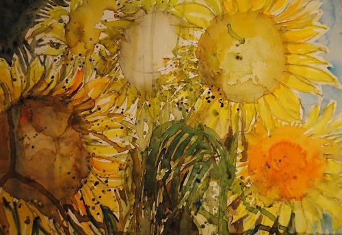 Christine Steeb, Sommersonnen, Pflanzen, Natur, Abstrakte Kunst, Expressionismus