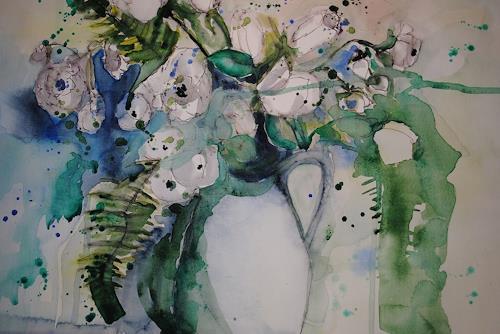 Christine Steeb, O/T, Natur, Pflanzen, Abstrakte Kunst, Expressionismus