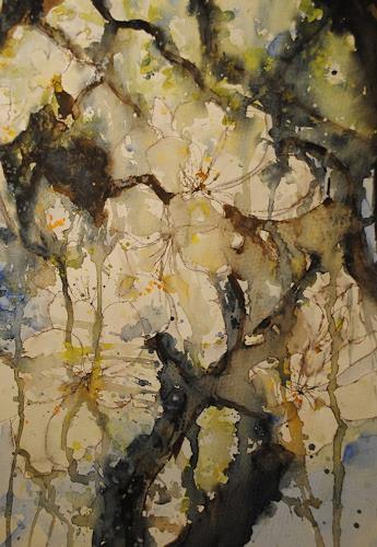 Christine Steeb, ... und wieder blüht der Apfelbaum, Pflanzen: Bäume, Natur, Abstrakte Kunst, Expressionismus