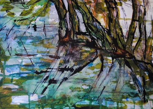 Christine Steeb, Symbiose, Landschaft, Natur, Abstrakte Kunst, Abstrakter Expressionismus