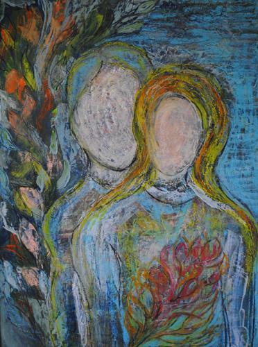 Christine Steeb, Das Paar, Menschen, Menschen: Paare, Abstrakte Kunst