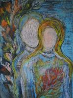 Christine-Steeb-Menschen-Menschen-Paare-Moderne-Abstrakte-Kunst