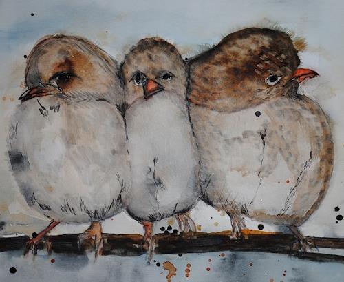Christine Steeb, O/T, Tiere, Natur, Abstrakte Kunst, Expressionismus