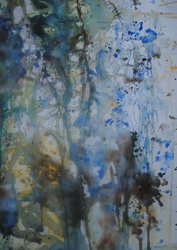 Christine Steeb, Nach dem Regen, Pflanzen, Pflanzen: Blumen, Abstrakte Kunst, Expressionismus