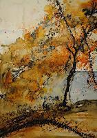 Christine-Steeb-Pflanzen-Baeume-Landschaft-Herbst-Moderne-Abstrakte-Kunst