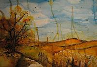 Christine-Steeb-Landschaft-Landschaft-Herbst-Moderne-Abstrakte-Kunst