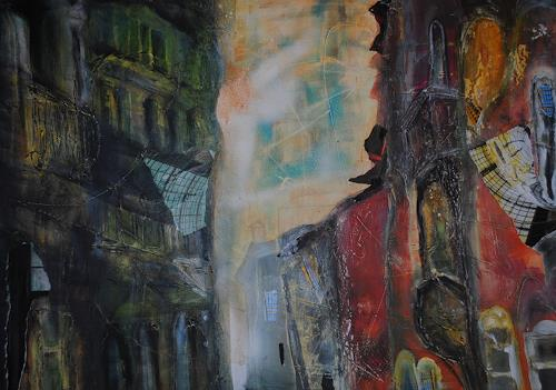 Christine Steeb, Venedig, Landschaft, Fantasie, Gegenwartskunst, Abstrakter Expressionismus