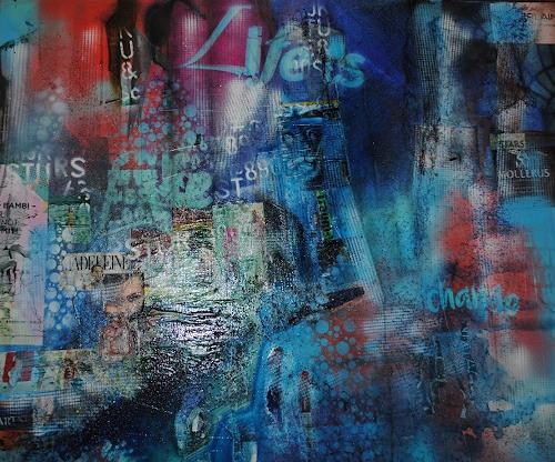 Christine Steeb, Life is change, Fantasie, Bauten: Hochhaus, Gegenwartskunst, Abstrakter Expressionismus