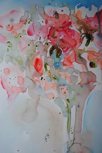 Christine Steeb, Gruss aus dem Garten, Pflanzen: Blumen, Natur, Gegenwartskunst, Expressionismus
