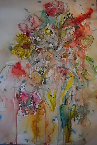 Christine Steeb, Bald ist Frühling, Natur, Pflanzen, Gegenwartskunst, Expressionismus