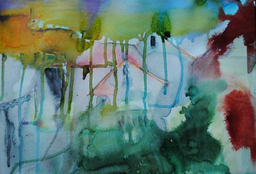 Christine Steeb, Komme was wolle, es wird Frühling, Gefühle: Geborgenheit, Landschaft: Frühling, Gegenwartskunst