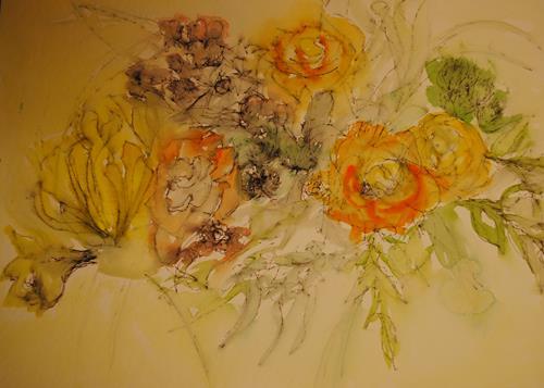 Christine Steeb, O/T, Pflanzen: Blumen, Natur, Gegenwartskunst