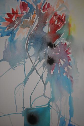 Christine Steeb, O/T, Pflanzen, Pflanzen: Blumen, Abstrakte Kunst
