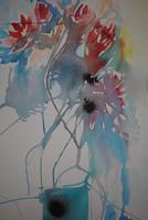 Christine-Steeb-Pflanzen-Pflanzen-Blumen-Moderne-Abstrakte-Kunst