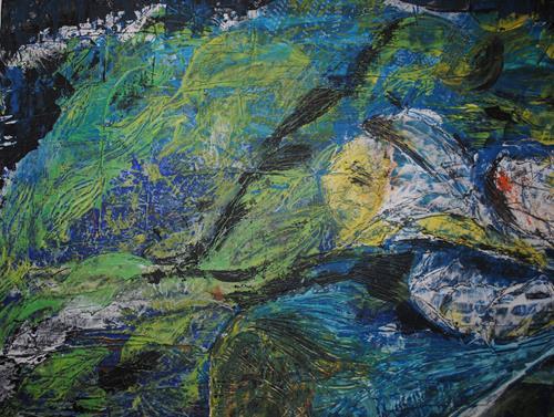 Christine Steeb, Wasserwelt (2), Natur, Pflanzen, Gegenwartskunst