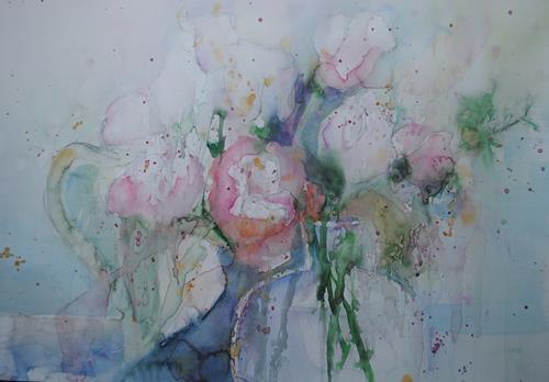 Christine Steeb, Rosentag, Pflanzen, Pflanzen: Blumen, Gegenwartskunst, Expressionismus