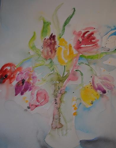 Christine Steeb, O/T, Pflanzen, Pflanzen: Blumen, Gegenwartskunst