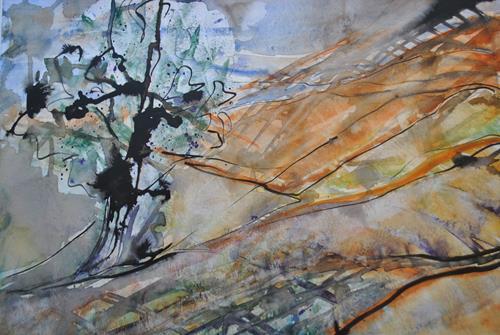 Christine Steeb, Albland, Landschaft, Natur, Gegenwartskunst, Expressionismus