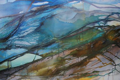 Christine Steeb, Vielleicht, Landschaft, Abstraktes, Gegenwartskunst, Expressionismus