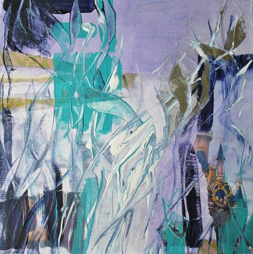 Christine Steeb, O/T, Landschaft, Fantasie, Gegenwartskunst, Expressionismus