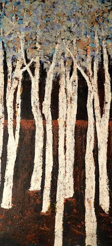 Heidrun Becker, Wald, Landschaft, Landschaft, Gegenwartskunst, Expressionismus