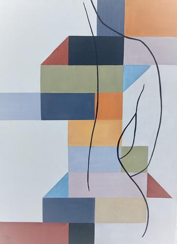 Rosemarie Salz, Farbenspiel 3, Abstraktes, Abstrakte Kunst, Expressionismus