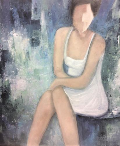 Rosemarie Salz, Figurativ 1, Menschen: Frau, Abstrakte Kunst