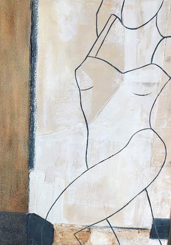 Rosemarie Salz, Figurativ 5, Menschen: Mann, Abstrakte Kunst