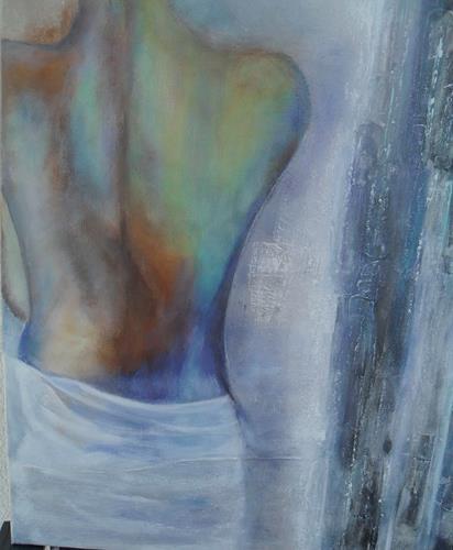 Rosemarie Salz, Figurativ 6, Menschen: Mann, Abstrakte Kunst