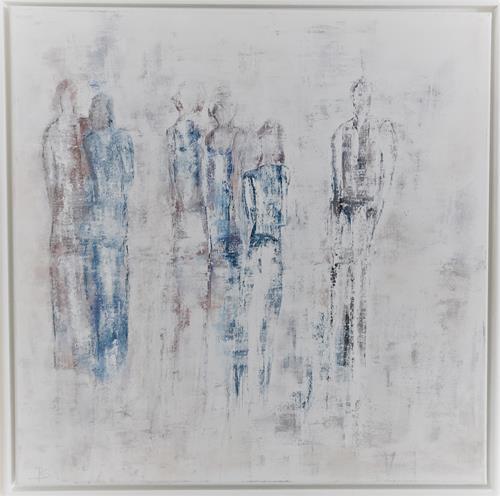 Rosemarie Salz, Figurativ 7, Menschen: Gruppe, Abstrakte Kunst