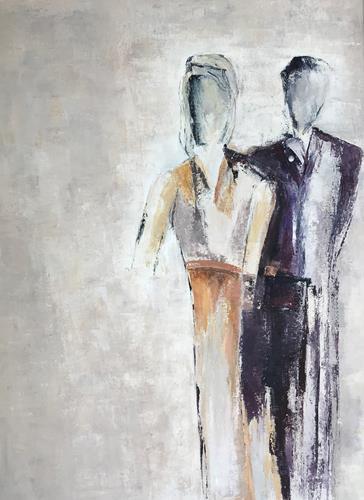 Rosemarie Salz, Blau dominiert 1, Abstraktes, Abstrakte Kunst