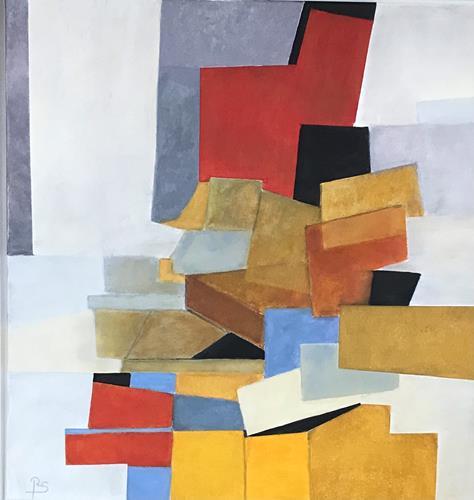 Rosemarie Salz, Blau dominiert 3, Landschaft: See/Meer, Abstrakte Kunst