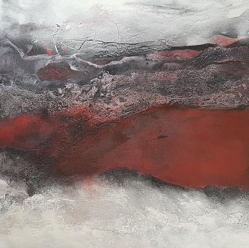 Marina Kowalski, Feuer und Eis, Abstraktes, Abstrakte Kunst, Expressionismus