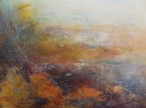Marina Kowalski, Toskanische Landschaft, Abstraktes, Abstrakte Kunst