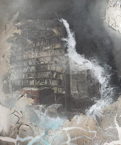 Marina Kowalski, In der Bücherstube, Diverses, Andere, Abstrakter Expressionismus