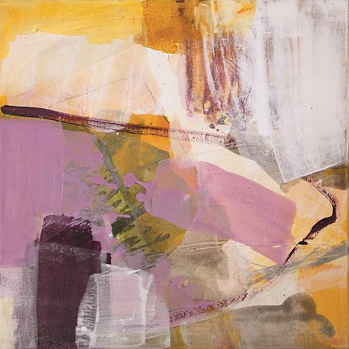 Maria Martin, Blumen im Sand, Abstraktes, Dekoratives, Informel, Expressionismus