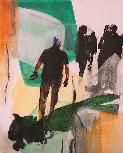 Maria Martin, Menschen I, Menschen, Abstraktes, Gegenwartskunst, Abstrakter Expressionismus