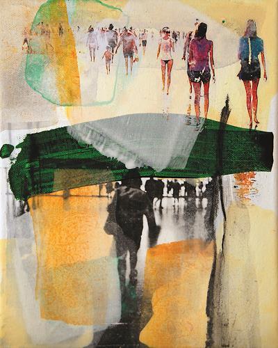 Maria Martin, Menschen II, Menschen, Abstraktes, Gegenwartskunst, Abstrakter Expressionismus