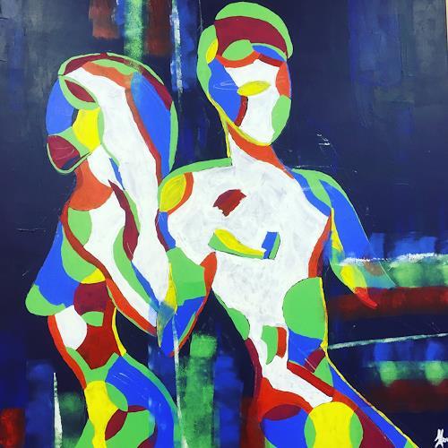 Angela Kirchmayer, O/T, Menschen, Abstraktes, Abstrakte Kunst, Abstrakter Expressionismus